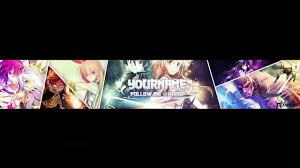 template youtube photoshop cc free youtube anime banner template photoshop cc youtube
