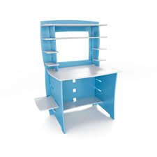 White Office Desk With Hutch Blue And White Maple Wood Desk With 8 Shelving For