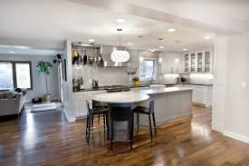 kitchen spacious kitchen created on hardwood flooring and