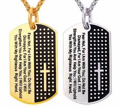 bible verse gifts dog tag bible verse necklaces pendant for men god of gifts