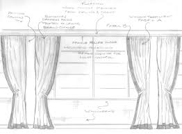 drawn curtain sketch pencil and in color drawn curtain sketch
