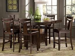 Tall Dining Room Sets Fancy Design Pc Square Counter Height Table Stools Black And Pc