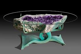 Crystal Coffee Table by Custom Geode Tables