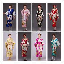 vintage japanese kimono yukata haori costume geisha dress obi