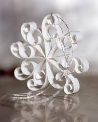 quill snowflakes other ornaments martha stewart