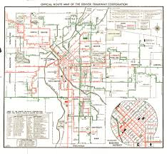Aurora Colorado Map by 1946 Official Route Map Of The Denver Tramway Corporation U2026 Flickr