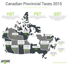 Canada Province Map Canadian Provincial Taxes 2015 Iglobal Stores