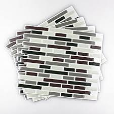 Amazoncom Fancyfix Vinyl Peel And Stick Wall Tile For - Vinyl backsplash tiles