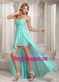quince dama dresses aqua blue high low sweetheart dama dress for quinceanera