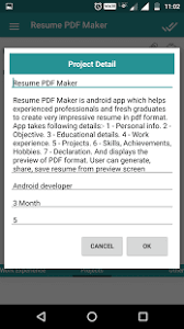 Resume Builder App For Android Resume Pdf Maker Cv Builder For Android Download