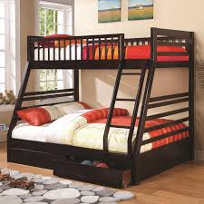 coaster bunks 460184 cappuccino twin over full bunk bed with 2