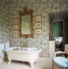 bathroom ideas floral mural bathroom wallpaper with gold carve