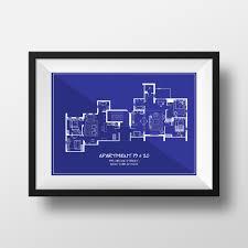 frasier crane apartment floor plan friends tv show apartment floor plan in blueprint style