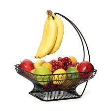 fruit basket gourmet basics by mikasa countryside fruit basket with