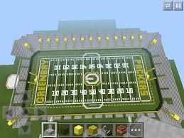 minecraft sports stadium lambeau field mega build minecraft amino