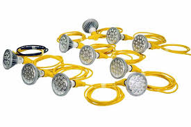 250 watt temporary construction string light 10 led par 38 work