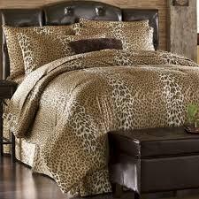 Fur Bed Set Leopard Chic Faux Fur Comforter Set From Seventh Avenue Dw739096