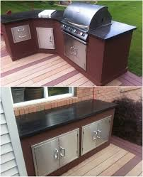 outdoor kitchen cabinet doors diy 15 amazing diy outdoor kitchen plans you can build on a