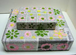 recycled wrapping paper the decorative painter the frugal crafter