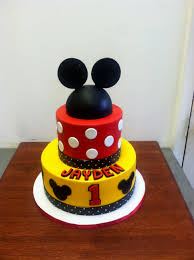 mickey mouse 1st birthday boy mickey mouse 1st bday cake decorating of party