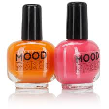 npw nail art mood maker colour changing nail polish orange purple