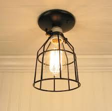 auburn port ceiling light industrial cage with edison bulb