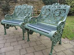 White Cast Iron Patio Furniture Garden Bench Ornate Garden Bench Wrought Iron Garden Table And