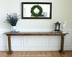 Diy Console Table Plans Easy Diy Console Table Plans X Free Narrow Wood U2013 Launchwith Me