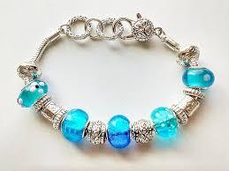 murano glass beads bracelet images Pandora inspired turquoise blue murano glass bead bracelet vintage jpg