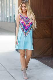 light blue tank dress lime lush boutique light blue brightly printed tank dress 36 99