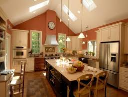 Kitchen With Vaulted Ceilings Ideas Glamorous Kitchen Track Lighting Vaulted Ceiling Advice For Your