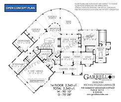 floor plan cottage harmony mountain cottage house plan house plans by garrell