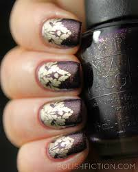 opi first class desires stamped with essie good as gold nail