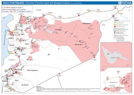 Kuwait On A Map Syria Acaps