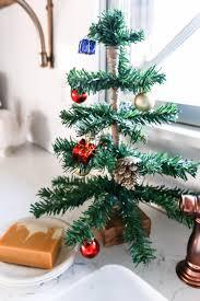 christmas christmas tree books diy diy mini tabletop christmas tree the weathered fox