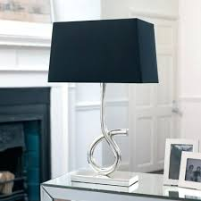 lamp with black shade black linen lamp shade with gold lining