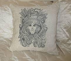 decorative cream velvet embroidered handmade cushion cover home