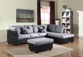 Sectional With Ottoman Grey Black Sectional Ottoman Kd S Appliances Furniture