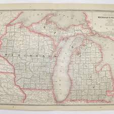 up michigan map best vintage michigan map products on wanelo