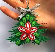 ornament pentru craciun papírcsík technika quiling pinterest