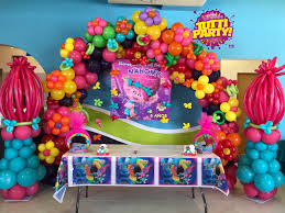 simple birthday decoration at home interior design view balloon themed birthday party decorations