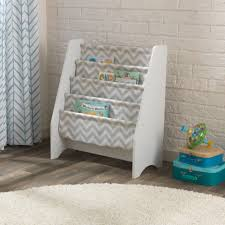 sling bookshelf white u0026 gray pattern