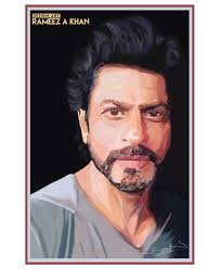 portrait shahrukh khan srk illustartion digitalpainting