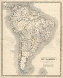 Sur America Map by