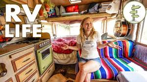 why you should live in an rv minimalist couple living in a tiny camper trailer that cost only