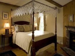 farmhouse canopy bed zyinga curtain in pink bedroom idolza