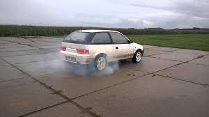 subaru justy suzuki swift subaru justy gti rwd test drift setup youtube
