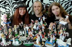customized wedding cake toppers wedding ideas bobblehead cake toppers for wedding cakes