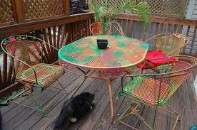 Outdoor Metal Patio Furniture Amazing Of Painting Patio Furniture Ideas Spray Painting Metal