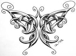 celtic butterfly sketch tattoomagz